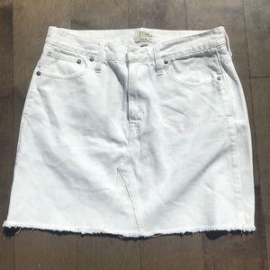 J Crew White Denim Skirt